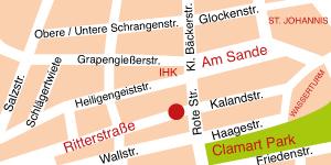 Standort der Kanzlei Bauseneick für Familienrecht in der Ritterstrasse 5 in Lüneburg